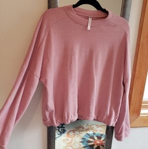 Fabletics Cropped Pink Shirt